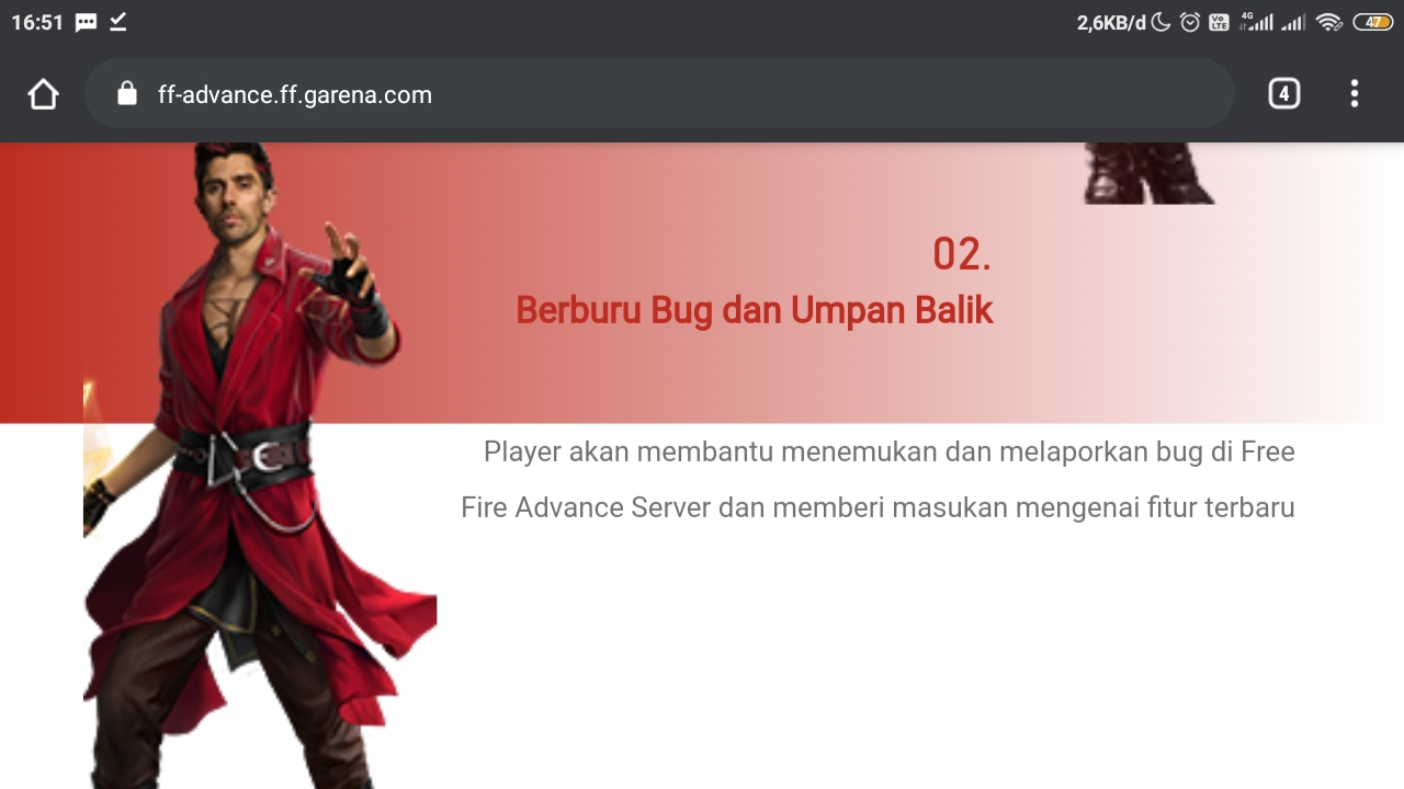 Cara Daftar Free Fire Advance Server