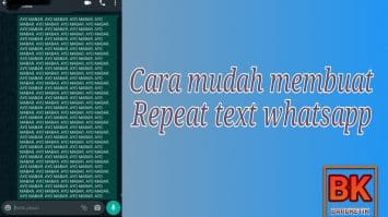 Repeat Text Whatsapp